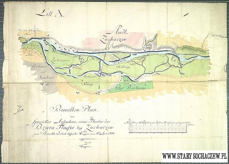 Mapa 1798 Stary Sochaczew