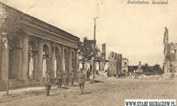 Hale targowe - Widokówka z czasów I Wojny Światowej.