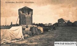 Wysadzony przez Niemców wodociąg stacyjny.