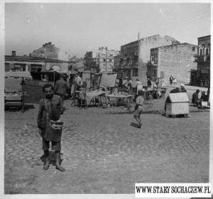 Gazeciarz-na-placu-Kościuszki-sierpień-1940